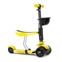 KAMURES 3-in-1 | 3 Wheels Foldable Kick Scooter with Removab