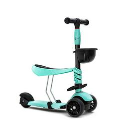 KAMURES 3-in-1 | 3 Wheels Kick Scooter with Removable Seat f