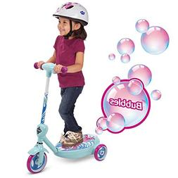 """Huffy 18037P 6V 2"""" 1 Bubble Scooter, Mermaid, Pink"""