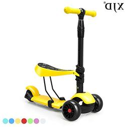 XJD 3-in-1 Kick Scooter for Kids Toddler Scooter Boys Girls