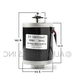100 W 24 V 12 V DC electric motor 25 chain sprocket zy6812 f