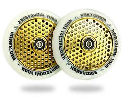 Root Industries 110mm HoneyCore Wheels - White/Gold Rush