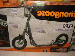"Mongoose 12"" Expo Scooter, Dark Gray / Green. Local Pickup O"