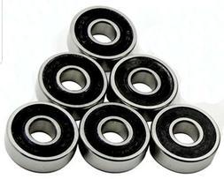 16 BLACK Wheel bearings Skateboard scooter inline Roller ska