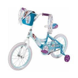 "16"" Huffy Girls' Frozen Bike, White/Blue 51935"