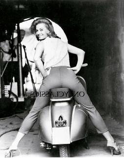 1961 SEXY ANGIE DICKINSON VESPA SCOOTER 11X14 PHOTO MOTORCYC