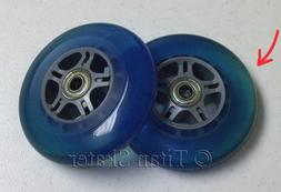 2 BLUE 100mm Wheels with ABEC-7 Bearings for Razor Kick Scoo