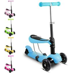 2 Modes Skateboard Scooter With T-bar Handle And Removable S