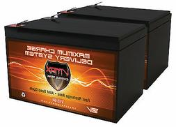 2 VMAX 12V 10AH Batteries for Schwinn Mongoose Electric Scoo