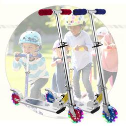 2 Wheel Kick Scooter. For Kids 2-17Ages with LED Rear Lights