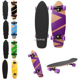27inch skateboard cruiser complete deck wooden printed