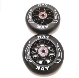 PAIR 100mm Replacement Scooter Wheels with Bearings razor  p