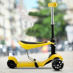 3 LED Wheels Kick Kids Child Toddlers Scooter Adjustable Hei
