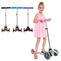 3 LED Wheels Kids Child Toddlers Kick Scooter Adjustable Hei