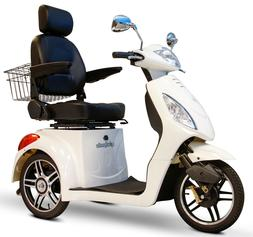 E-Wheels 3 Wheel Elite Power Scooter with Electromagnetic Br