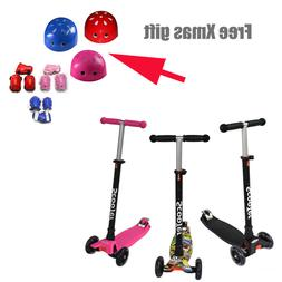 3 Wheels Kick Kids Child Toddlers Scooter Adjustable Height