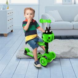 3 Wheels Kick Kids Children Toddler Scooter Adjustable Heigh