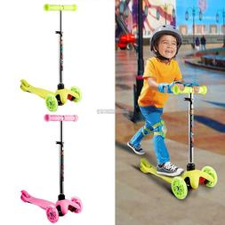 3 Wheels Kick Scooter Skate Ride Kids Child Toddler Girl Toy