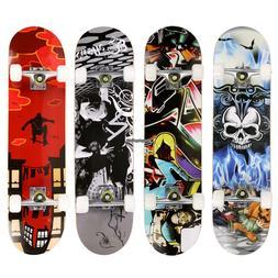 "31""x8"" Cool Design Maple Wood Skateboard Complete Longboard"