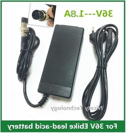 36V 1.8A Battery Charger For Electric <font><b>Scooter</b></