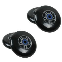 4 Black 100mm Replacement Wheels + ABEC-7 Bearings for Razor