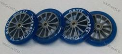 4 Four 125mm Wheels with ABEC-9 Bearings for TITAN FS 532, R