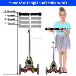 3 LED Flashing Wheels Kids Scooter Toddler Glider Adjustable