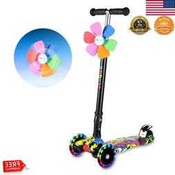 4 Wheels Kick Kids Scooter Child Toddlers Exercise Adjustabl