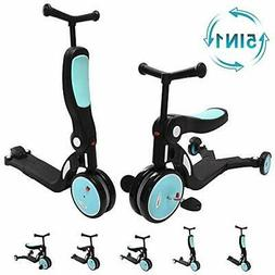 ChromeWheels 5 in 1 Scooter for Kids, Deluxe Transforming Ki