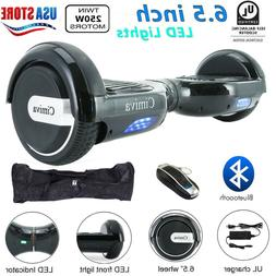 """6.5"""" BLUETOOTH LED ELECTRIC SCOOTER HOVER-BOARD SELF BALANCI"""