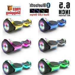 6.5 inch Hoverboard with LED FLASHING WHEELS Chrome Color Sc