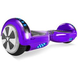 "6.5"" LED Self Balancing Hoverboard Scooter Chrome Purple wit"