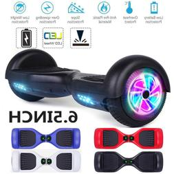 "6.5"" LED Wheels Hoverheart Hoover boards Chrome Electric Sel"