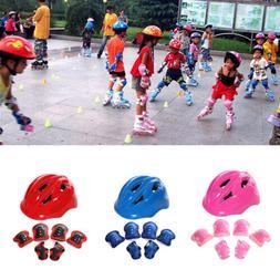 7set Kids Skateboard Helmet&Protector Elbow Pads For Skate S