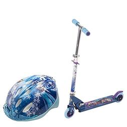 Huffy Disney Frozen Girls' Scooter & Helmet 2 Piece Combo Se