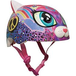 Raskullz Sparklez Peace Love Kitty Helmet, Pink, Ages 3+