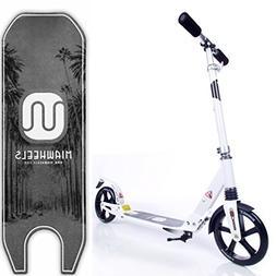 MIAWHEELS White/Black Adjustable & Foldable + Suspension+ St