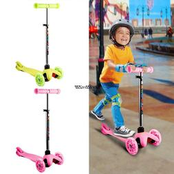 Adjustable Height Kick Scooter 3 Wheels Foldable for 3+ Year