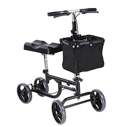 AW Adjustable Knee Scooter Walker w/Basket Steerable Rolling