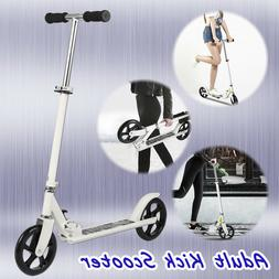 Ancheer Adult Scooter Folding Adjustable 2 Wheels Wide Deck