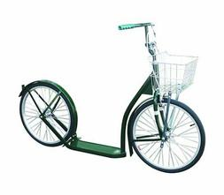 "Amish-Made Deluxe Kick Scooter Bike - 20"" Wheel   Dark Green"