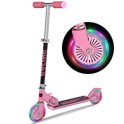 WeSkate B3 Scooter for kids with LED Light Up Wheels, Adjust