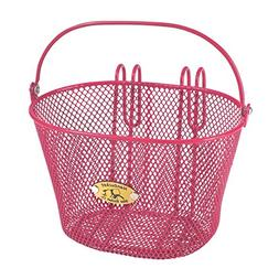 Nantucket Bike Basket Co Kid's Surfside Mesh Wire Basket, Pi