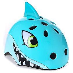 shuangjishan Bike Helmet Shark Helmet for Boys Toddlers Age