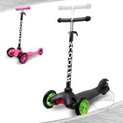 Black Pink For Kids Gift Kick Scooter Deluxe 3 Wheels Adjust