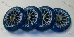 BLUE 110mm Scooter Wheels with Bearings 4 Pieces/2 Pairs DIS