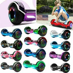 "Bluetooth Smart Hoverboard LED Hoover Board NHT 6.5"" Chrome"