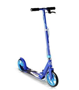 Adjustable Handle Bars Smooth /& Fast Ride Fuzion Cityglide B200 Adult Kick Scooter w//Hand Brake Folds Down 220lb Weight Limit