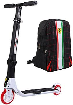 Ferrari Collapsible Two Wheels Scooter with Free Backpack, W