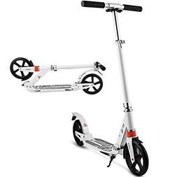 Hikole Commuter Adult Kick Scooter with Carrying Strap   Fol